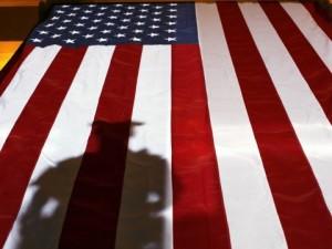 police-flag-shadow-american-flag